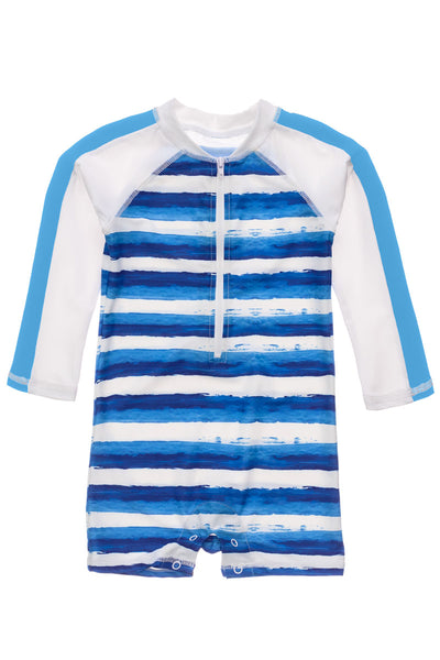 Snapper Rock Sunset Stripe Long Sleeve Sunsuit
