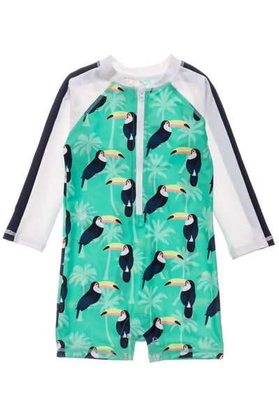 Snapper Rock Toucan Talk Long Sleeve Sunsuit