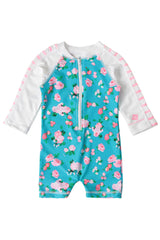 Snapper Rock Girls Long Sleeve Sunsuit Vintage Floral