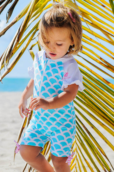 Snapper Rock Baby Short Sleeve Sunsuit St. Barths