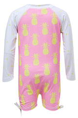 Snapper Rock Long Sleeve Sunsuit Pineapple Spot