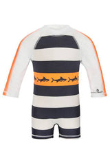 Snapper Rock 1 Piece Long Sleeve Sunsuit Tribal Shark