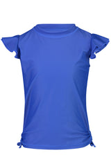 Snapper Rock Blue Flutter Sleeve Rash Top