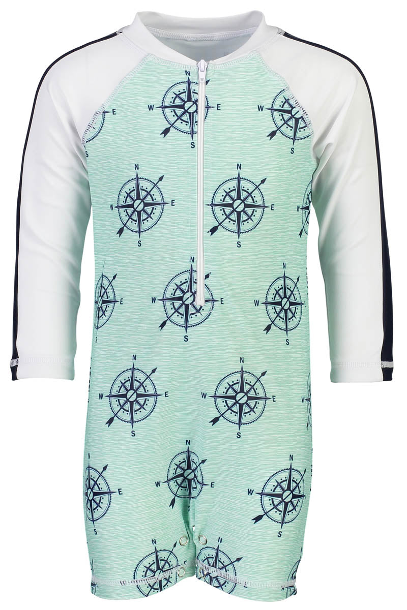Snapper Rock Long Sleeve Sunsuit Compass
