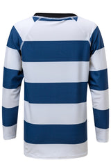 Snapper Rock Denim/White Rugby Stripe LS Rash Top
