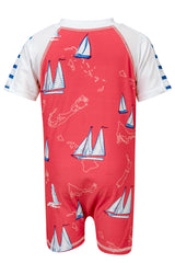 Snapper Rock Island Sail Baby Short Sleeve Sunsuit
