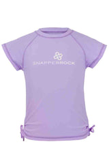 Snapper Rock Lavender Short Sleeve Rash Top