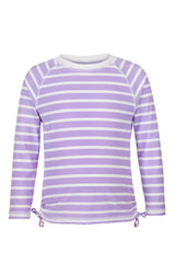 Snapper Rock Lavender Stripe Long Sleeve Rash Top