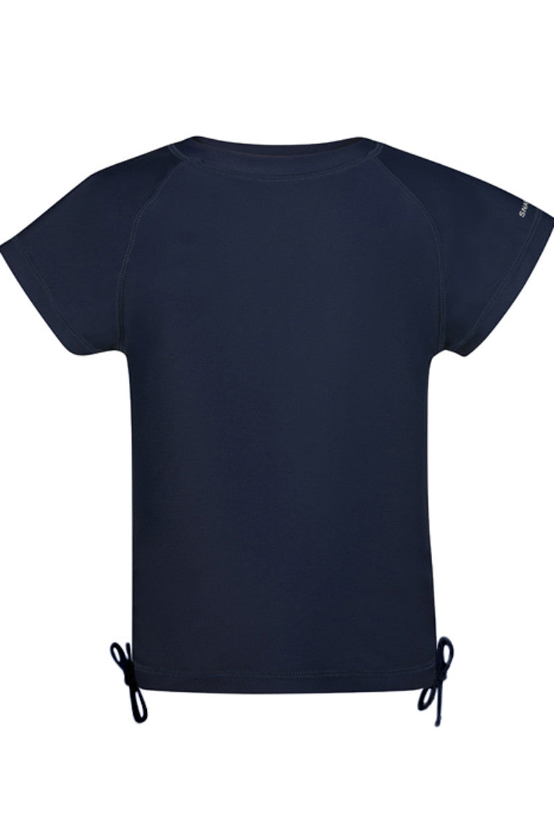 Snapper Rock Navy Short Sleeve Rash Top