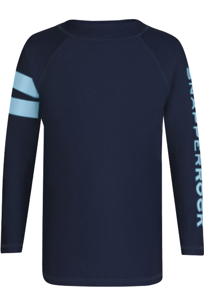 Snapper Rock Navy Sleeve Band LS Rash Top