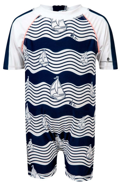 Snapper Rock Ocean Explorer Short Sleeve Sunsuit