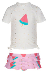 Snapper Rock Watermelon Baby Ruffle Set