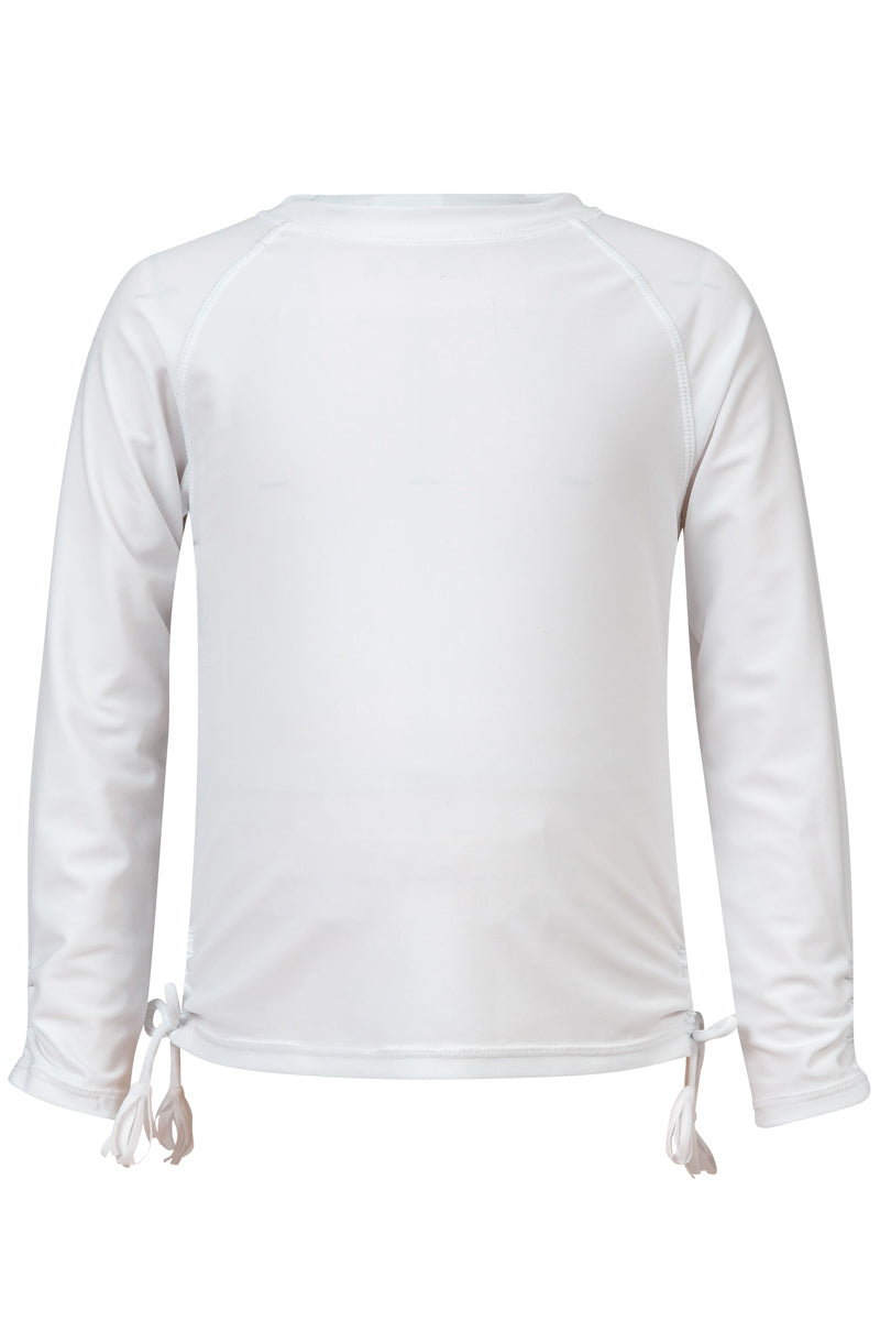 Snapper Rock White Long Sleeve Rash Top
