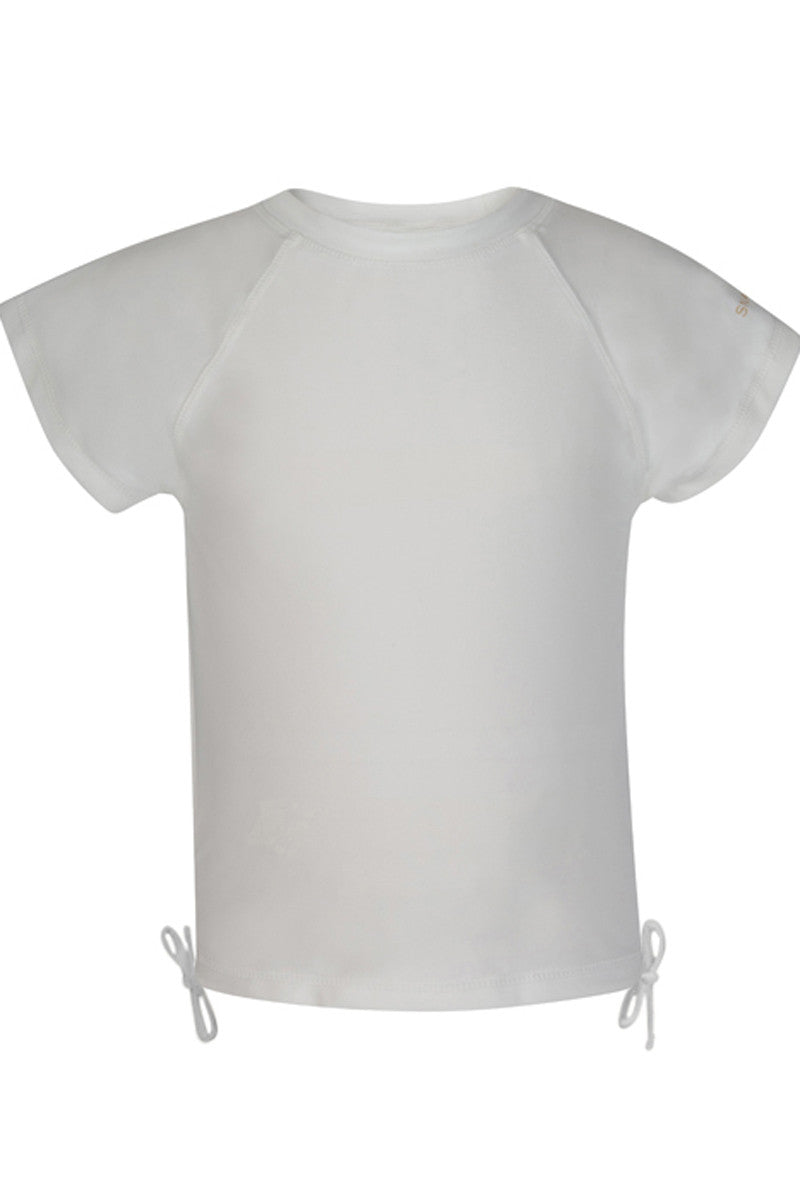 Snapper Rock White Short Sleeve Rash Top