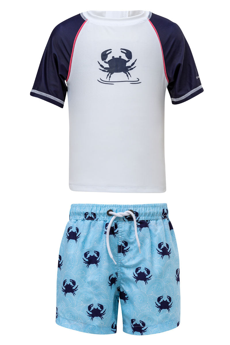 Snapper Rock Blue Crab Baby SS Set