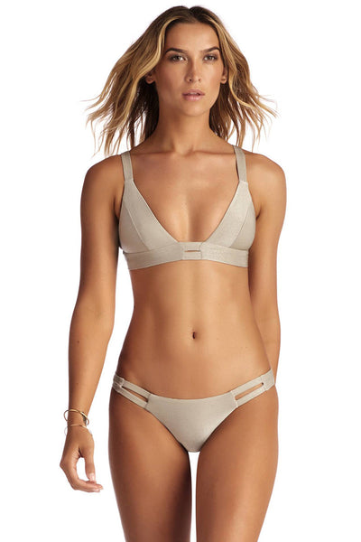 Vitamin A Neutra Bralette and Neutra Hipster Moonlight Metallic