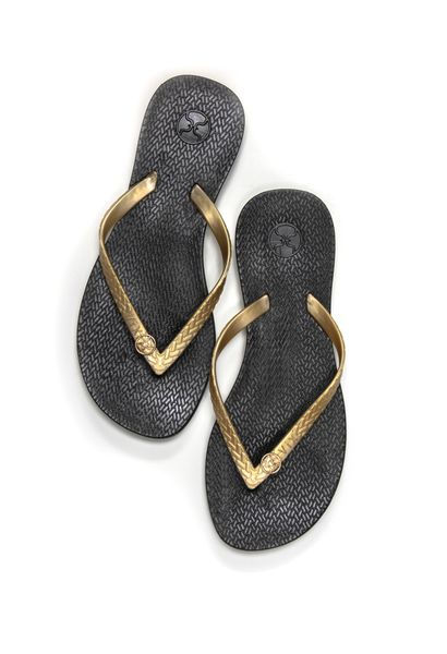 ViX Sandals Black with Gold