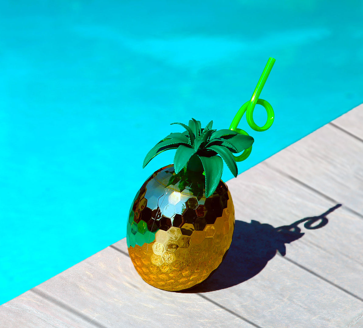 Pineapple Disco Ball Sipper cu...