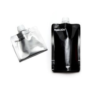 Flask2Go Black & Silver