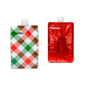 Flask2Go Xmas Plaid