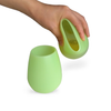Pastel Green Silicone Wine Cups (2 pack)