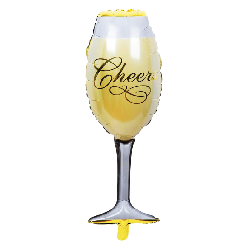"""Cheers"" Giant Champagne Glass Balloon"