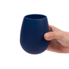 Navy Silicone Wine Cups (2 pack)