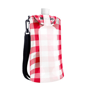 Red Gingham Totally Totable Wine Tote