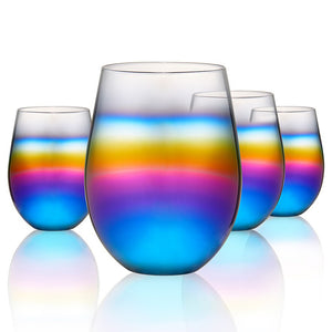 Rainbow Ombre Wine Glasses