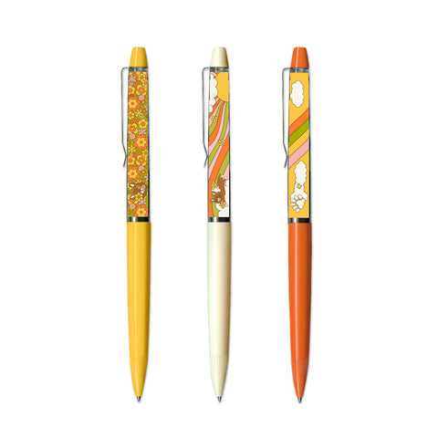 Floaty Pen Set - Retro BUB - Set of 3 Pens
