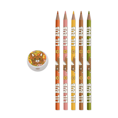 Colored Pencil Set with Sharpener - Retro BUB