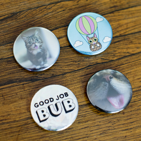 Lil BUB Button Pack (set of 4)