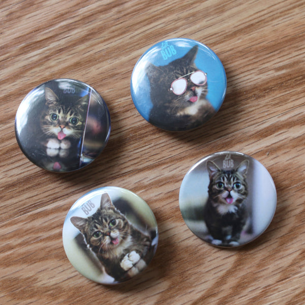 "NEW! 2016 Lil BUB BUTTON Pack (4 x 1.5"" circle buttons)"