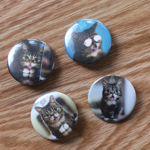 "2016 Lil BUB BUTTON Pack (4 x 1.5"" circle buttons)"
