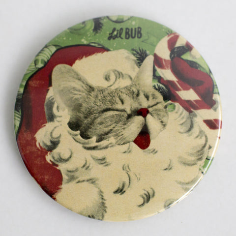 "Limited Edition 3"" Lil BUB Holiday Santa Magnet"