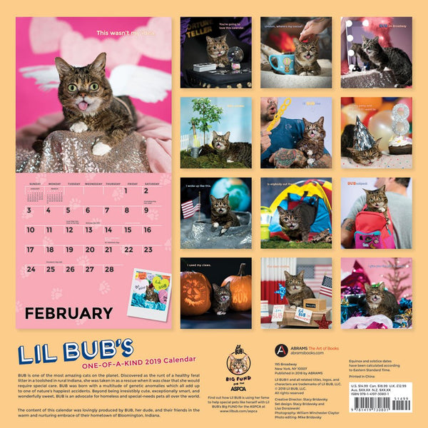 2019 BUB Calendar + Sticker Sheet