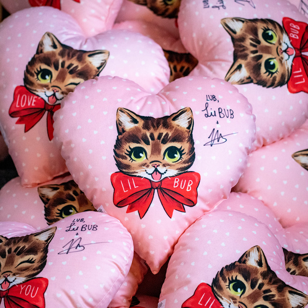 SIGNED - Limited Edition - Lil BUB Heart Pillow (minor blemish)