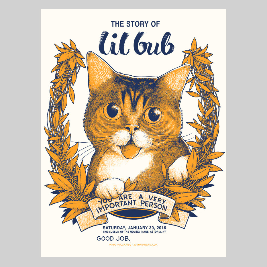 "Limited Edition Art Print (signed and stamped) - ""The Story of Lil BUB"" - Astoria, NY Meet & Greet, 2016"