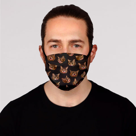 Face Mask PRE-ORDER - BUB Heads - Black