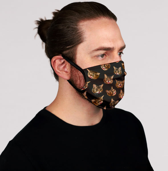 Face Mask - BUB Heads - Black