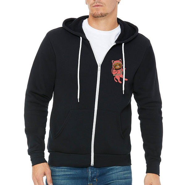 Zip Up Hoodie - Pop Art Galaxy - Black