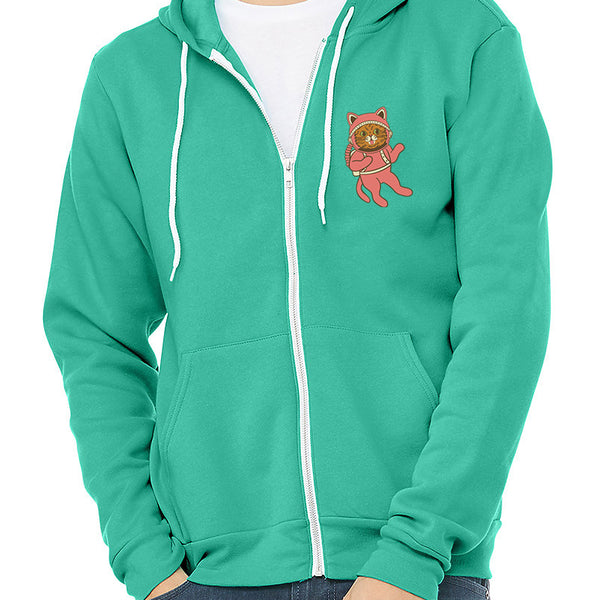 Zip Up Hoodie - Pop Art Galaxy - Teal