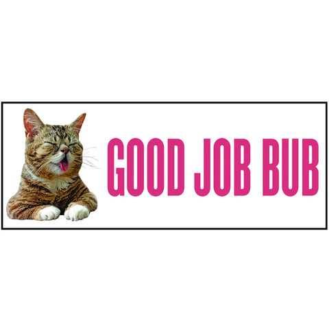 BUBmper Sticker - GOOD JOB BUB (2012) - Close-Eyed White