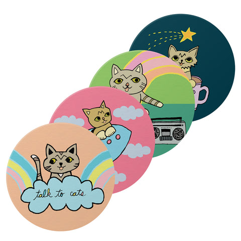 Coaster Set - Cartoon BUB - Set of 4
