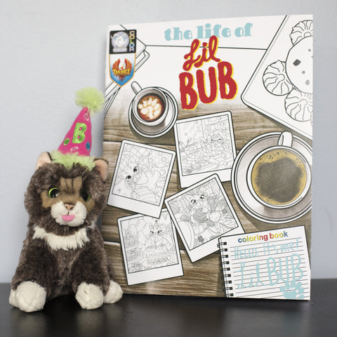 Limited Edition Birthday BUB Plush + Coloring Book Bundle!