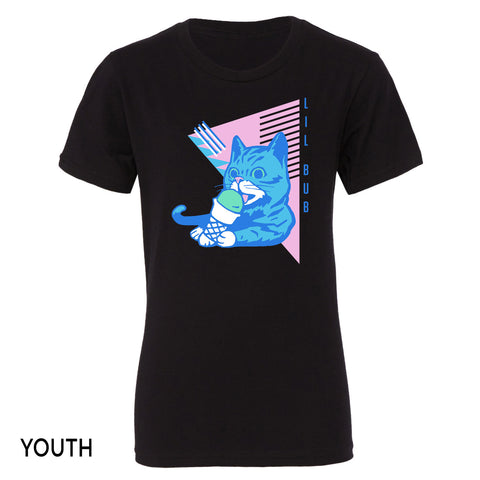 Youth T-Shirt - Ice Cream BUB - Black