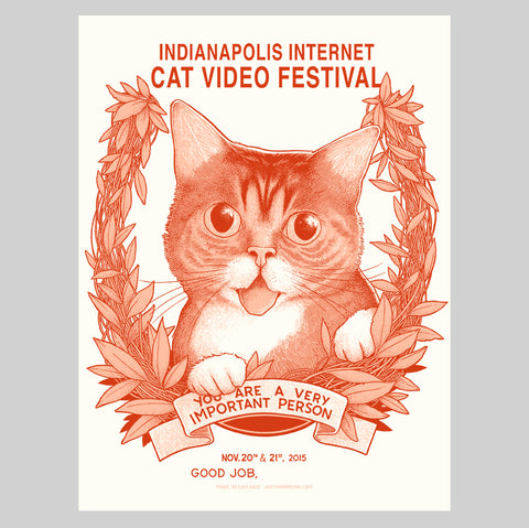 "Limited Edition Art Print (signed and stamped) - ""Internet Cat Video Festival"" - Indianapolis, IN 2015"