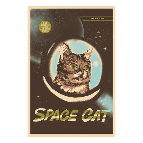 "Limited Edition Art Print - ""Lil BUB Visits Earth!"" by Jessica Deahl"