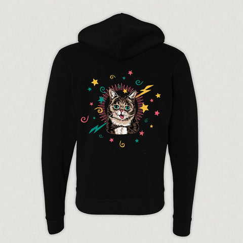 Zip Up Hoodie - Magic BUB - Black