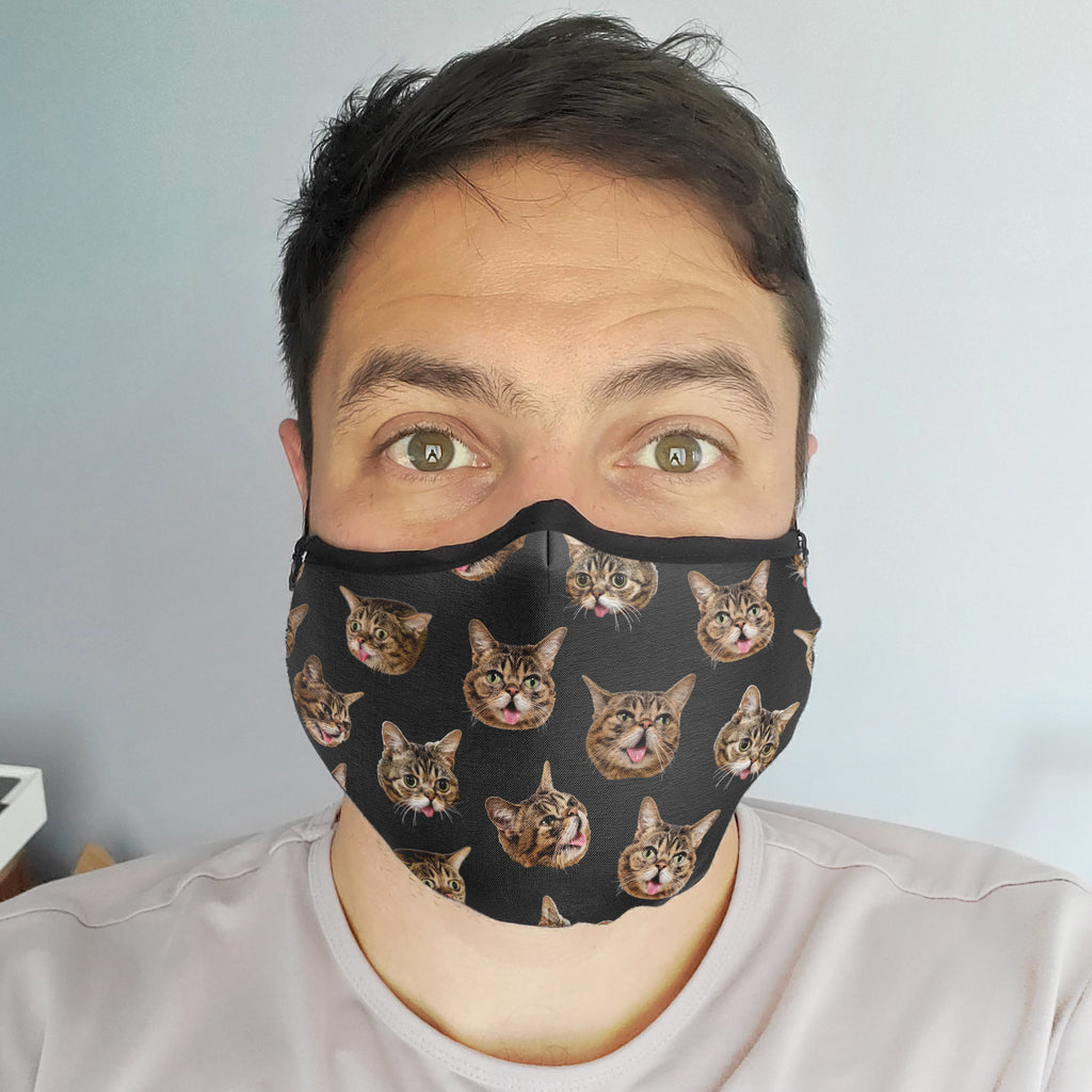 NEW! Face Mask - BUB Heads - Black